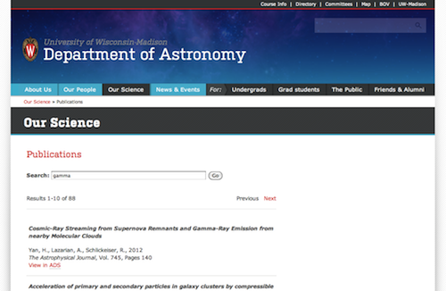 Astronomy Publications